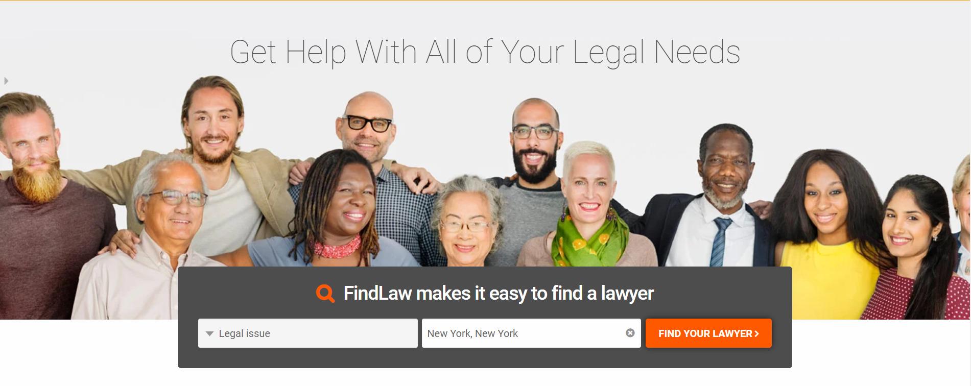 Findlaw Homepage Image